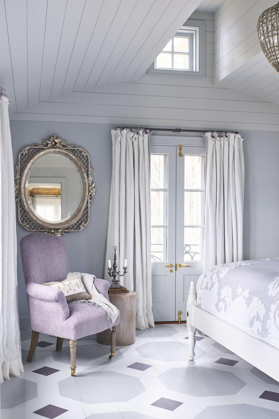 أفضل ألوان غرف النوم - لون نبات اللافندر