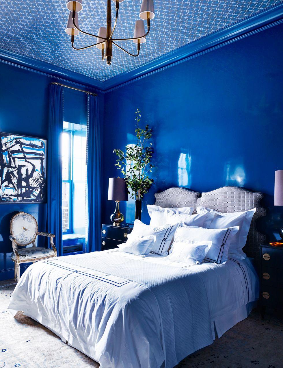 أفضل ألوان غرف النوم - الأزرق