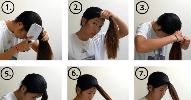 طريقة قص الشعر القصير - قص الشعر المدرج بالصور