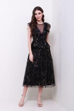 فساتين سواريه للقصيرات المحجبات - الفساتين التي تمزج بين لونين مختلفين بأقمشة براقة