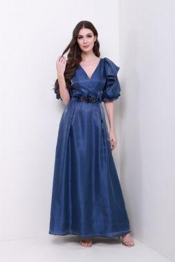 فساتين سواريه للقصيرات المحجبات - الفساتين المنفوشة ذات الخصر المتوسط