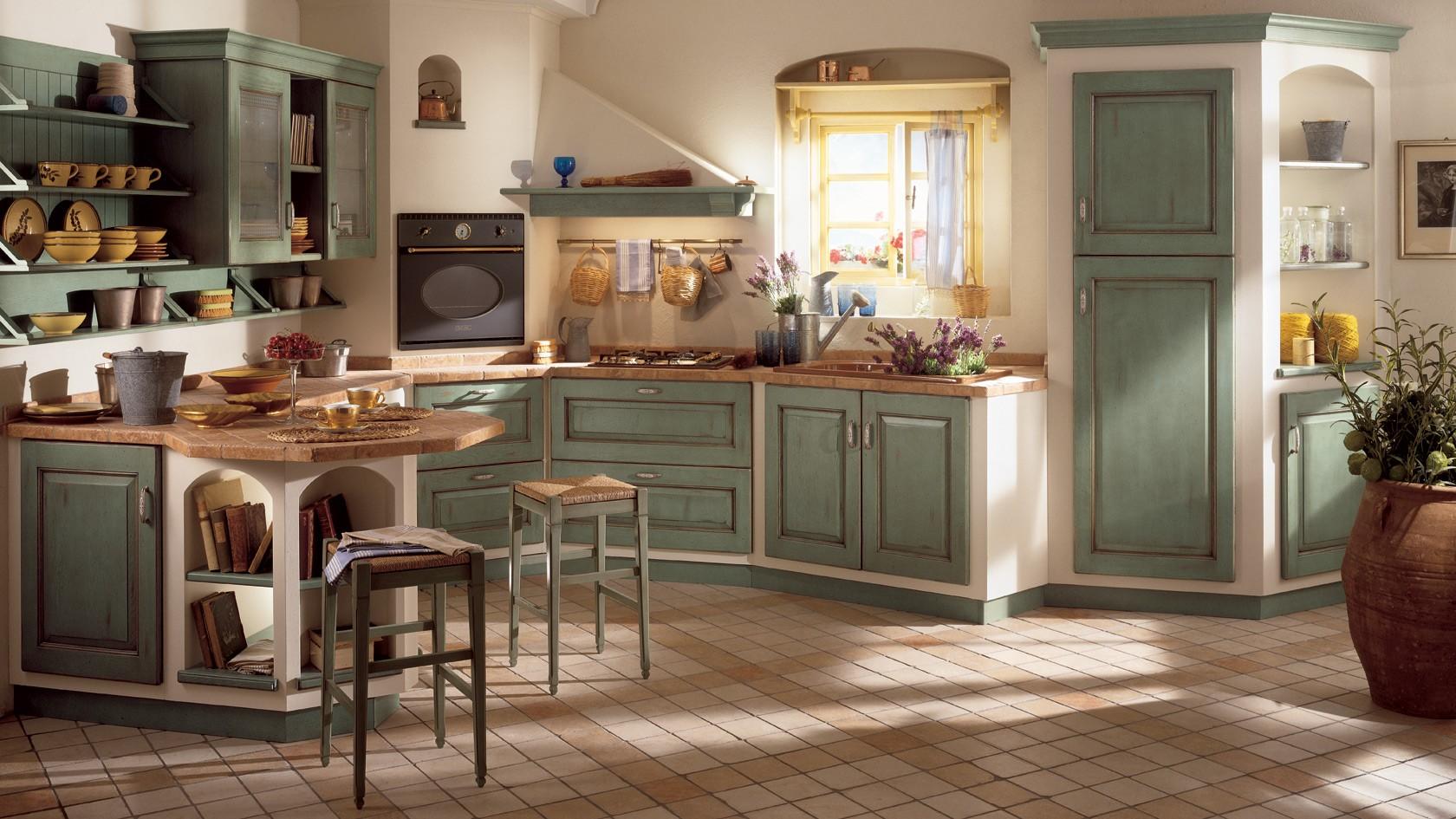 ديكورات مطابخ إيطاليه-ألوان المطابخ