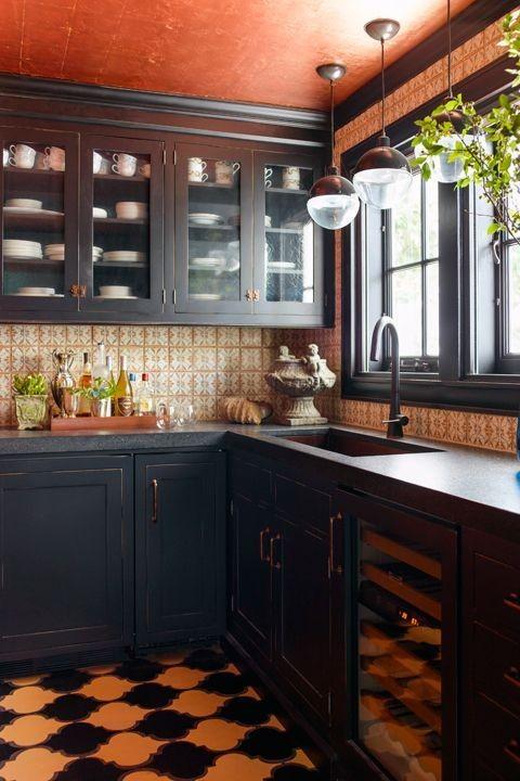 بالصور ديكورات للمطبخ باللون البرتقالي-ألوان المطبخ