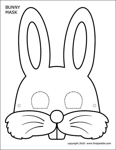 كيفية صنع قناع أرنب بالورق-الرسم