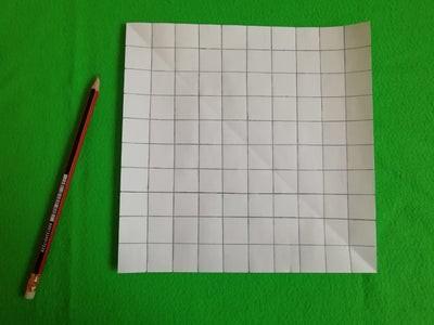 طريقة عمل لعبة السلم والثعبان للأطفال-رسم المربعات