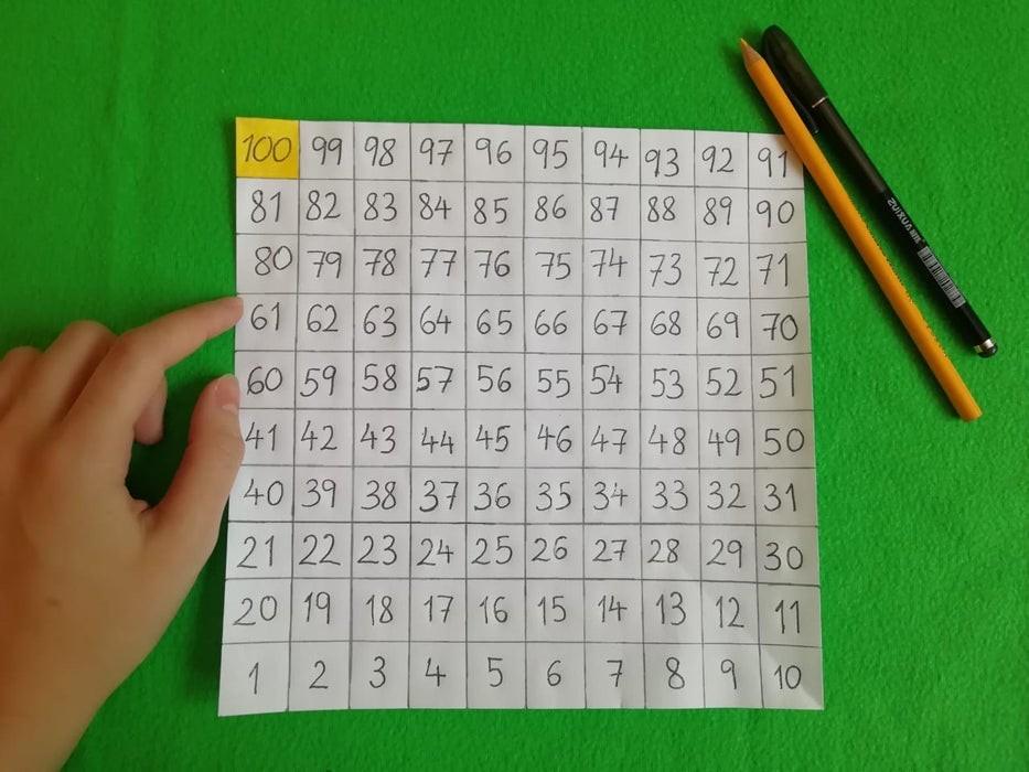 طريقة عمل لعبة السلم والثعبان للأطفال-كتابة الأرقام