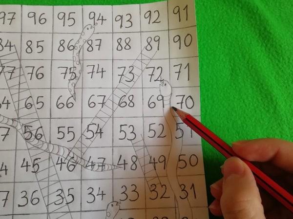 طريقة عمل لعبة السلم والثعبان للأطفال-رسم الثعابين والسلالم