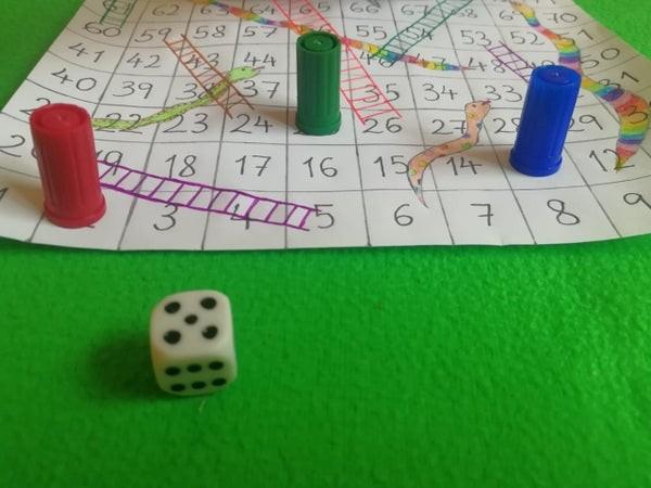 طريقة عمل لعبة السلم والثعبان للأطفال-الشكل النهائي