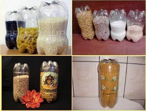 7 أفكار بسيطة لاعادة تدوير الزجاجات الفارغة- تخزين الحبوب