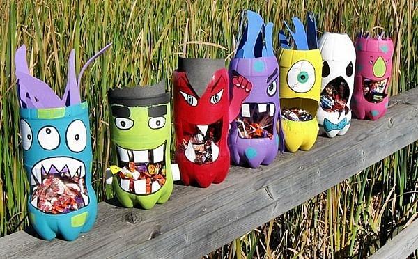 7 أفكار بسيطة لاعادة تدوير الزجاجات الفارغة-ألعاب للأطفال2