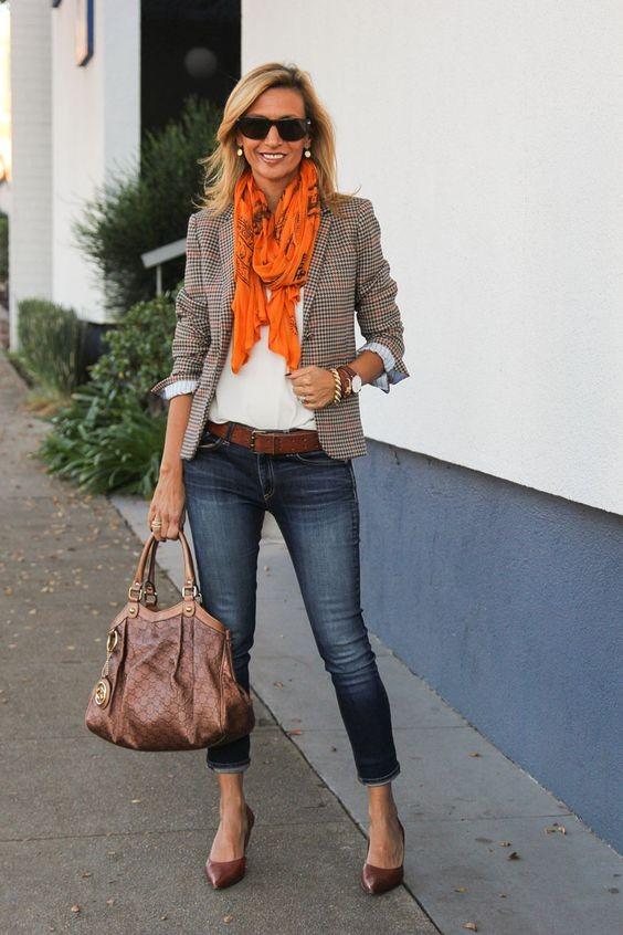 تنسيق اللون البرتقالي في الملابس-للعمل