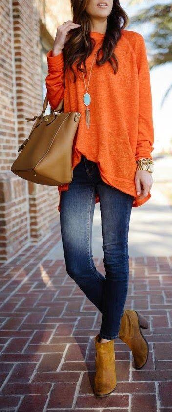 تنسيق اللون البرتقالي في الملابس-الإكسسوارات
