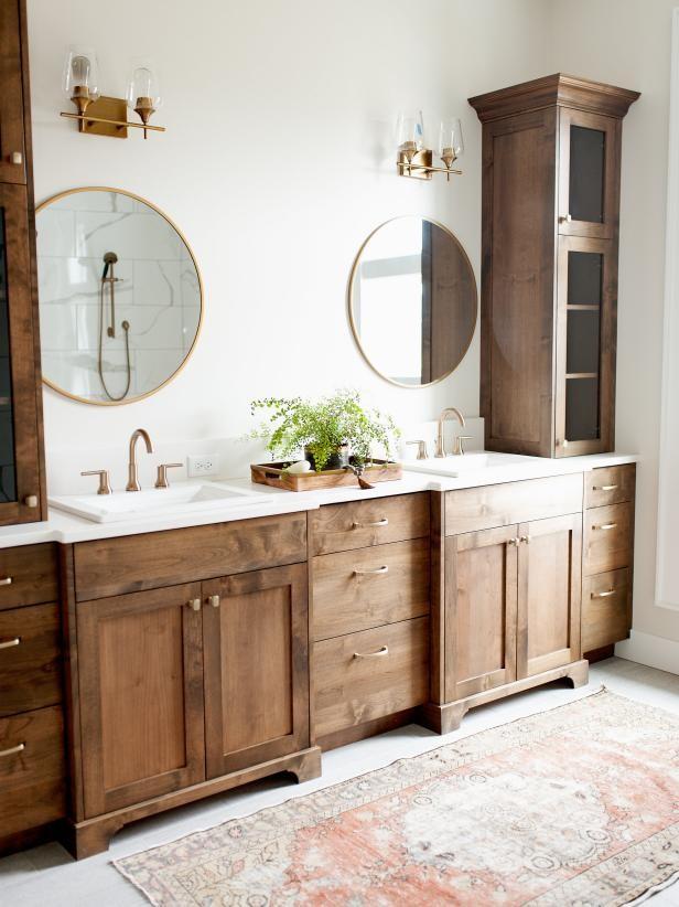 أشكال مختلفة لدولاب الحمام-دولاب تخزين مزدوج