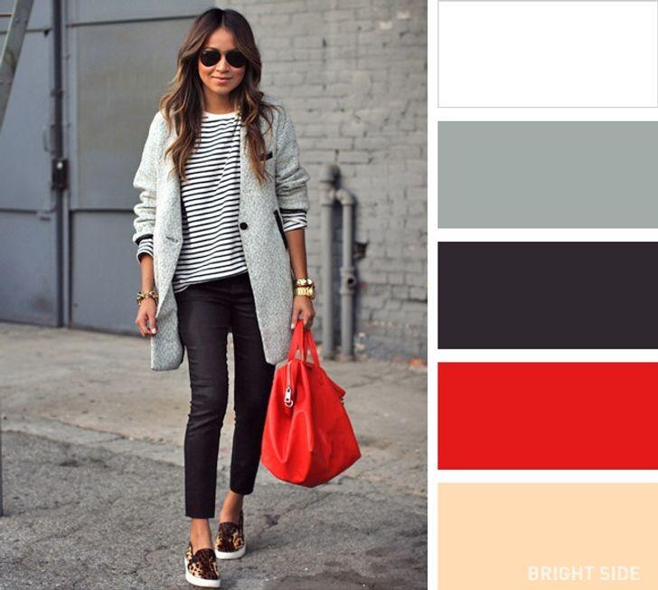 تنسيق اللون الأحمر والرمادي في الملابس-حقيبة كاجوال