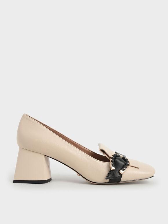 أشكال أحذية فورمال-حذاء كعب عريض