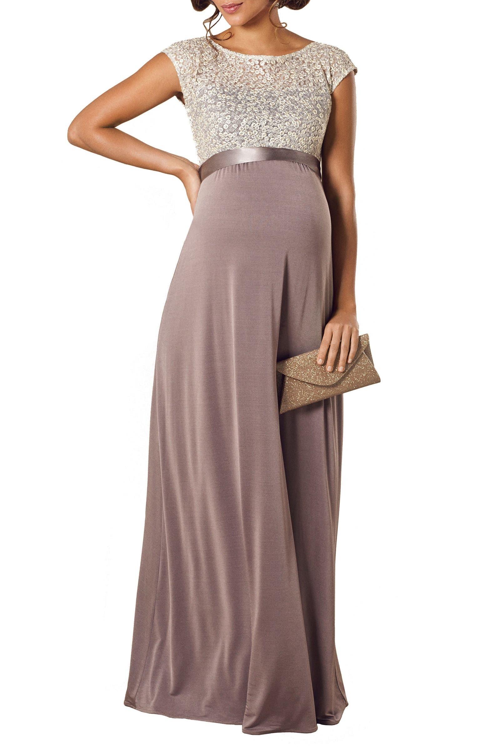 فستان للحوامل مناسب للسهرة-فستان طويل