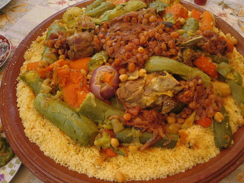 أكلات رمضانية جديدة - طريقة عمل كسكس بالخضار ولحم الضأن