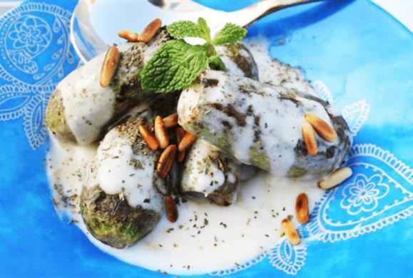 أكلات رمضانية لبنانية - طريقة عمل محشي الكوسة باللبن