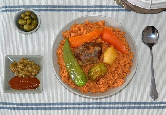 أكلات رمضانية تونسية - طريقة عمل الكسكس بلحم العلوش