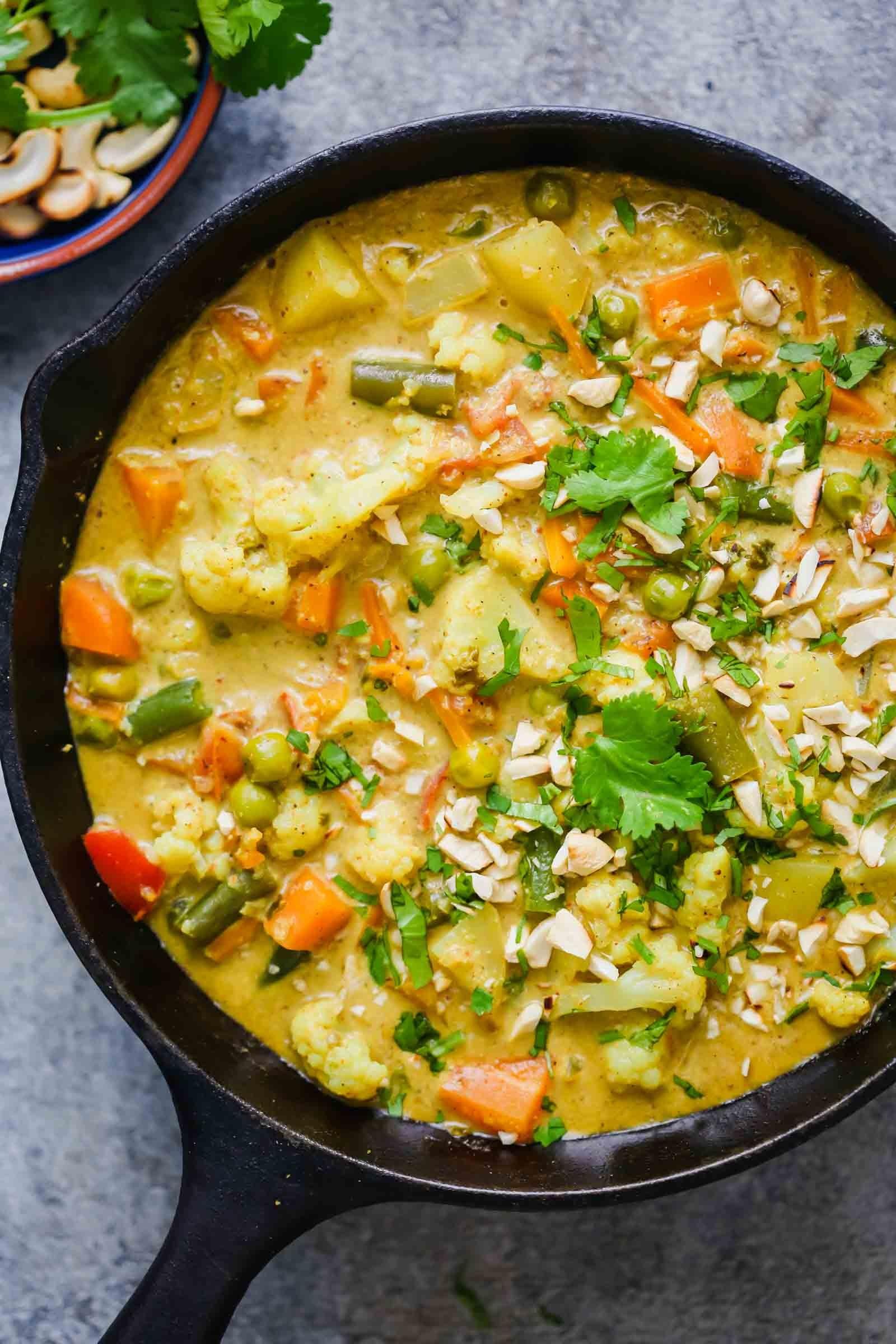 أكلات هندية نباتية - طريقة عمل طبق الكورما الهندي