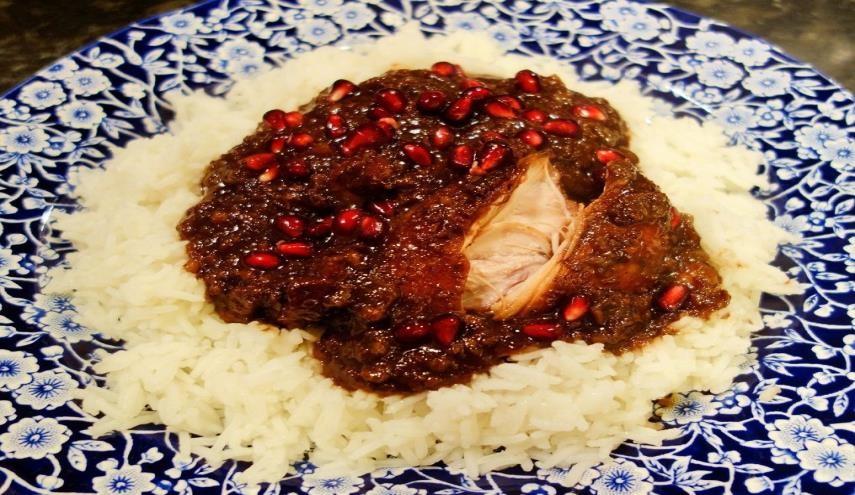 أكلات عراقية بالدجاج - طريقة عمل الفسنجون العراقي
