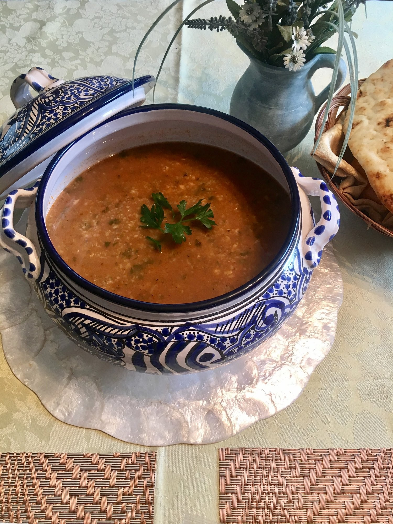 أكلات تونسية سريعة وسهلة - طريقة عمل شوربة الفريك التونسية باللحم
