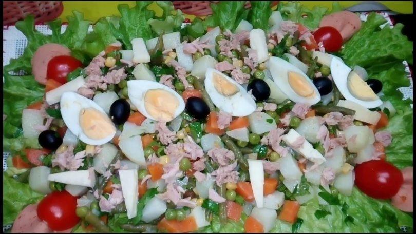 أكلات تونسية سريعة وسهلة - طريقة عمل سلطة المسموطة التونسية