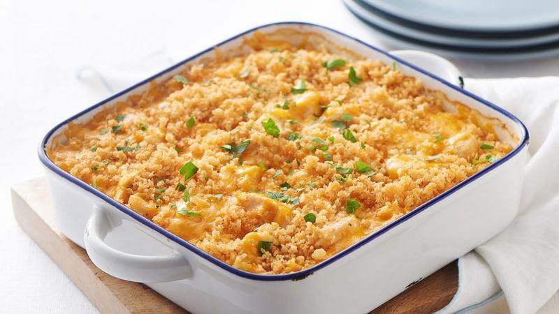 وصفات بالجبن الشيدر - طريقة عمل صينية الأرز بالدجاج والجبن الشيدر