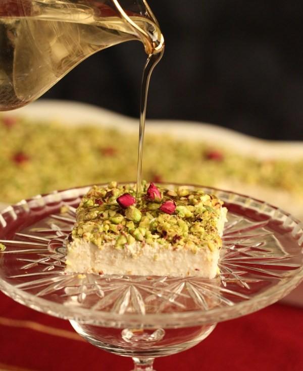 حلويات عربية - طريقة عمل حلوى ليالي لبنان