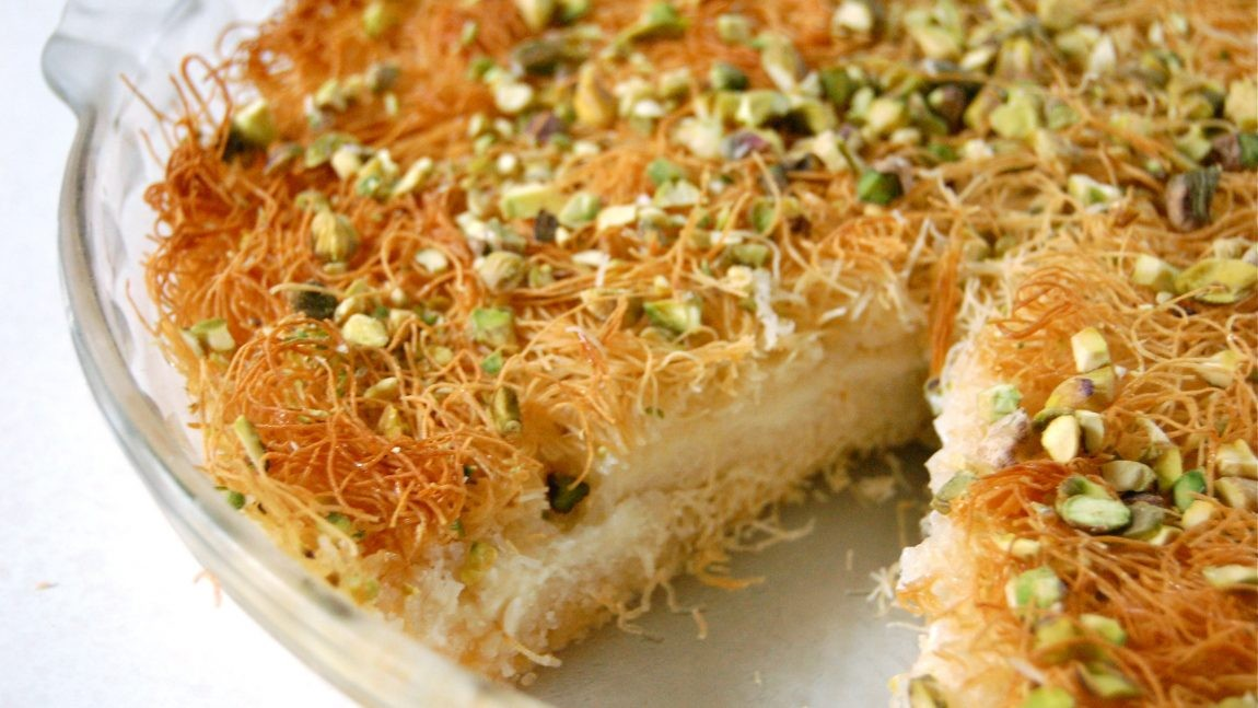 حلويات عربية - طريقة عمل الكنافة بالمهلبية