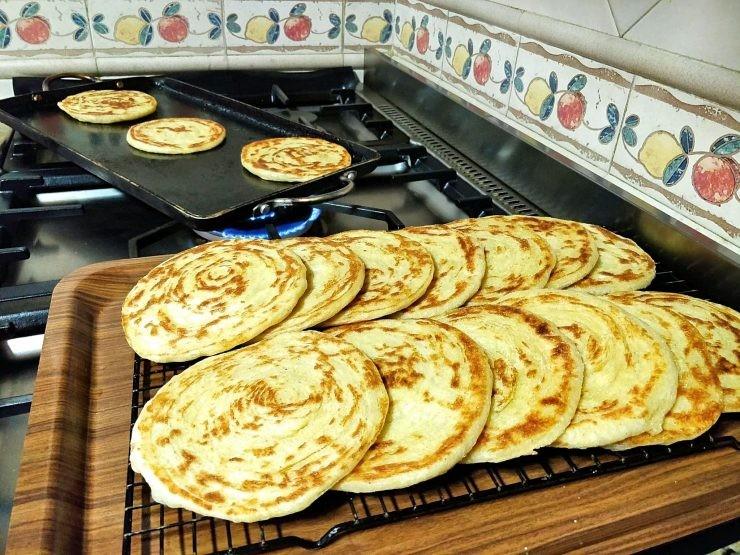 فطور صباحي مغربي - طريقة عمل الملوي المغربي