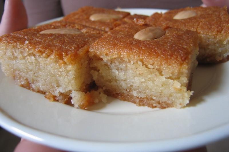حلويات فلسطينية - طريقة عمل الهريسة الفلسطينية