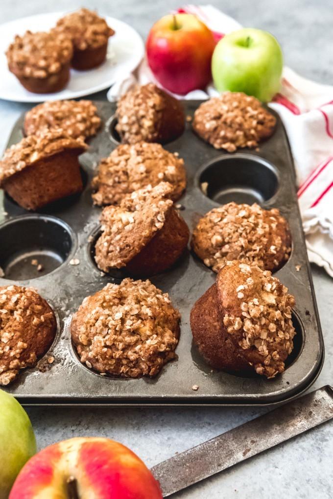 حلويات بالشوفان للرجيم - طريقة عمل مافن الشوفان والتفاح
