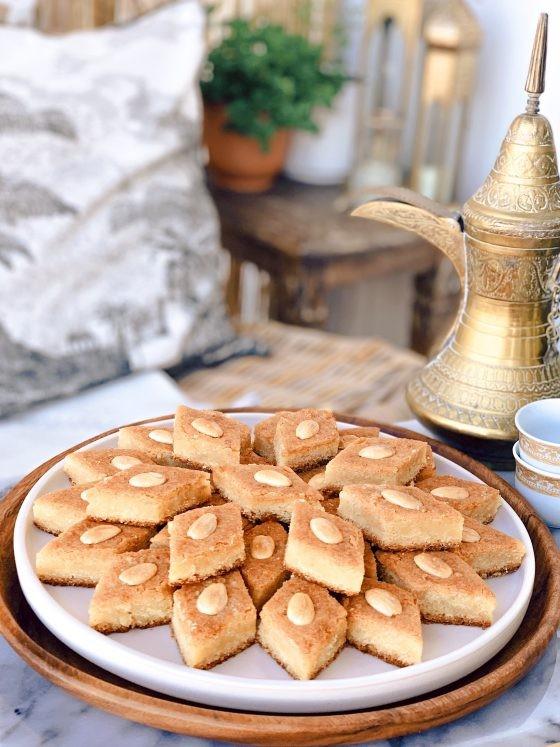 حلويات فلسطينية - طريقة عمل النمورة الفلسطينية