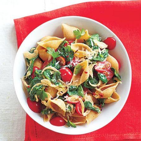 أنواع مكرونة دايت - طريقة عمل مكرونة دايت بالسبانخ والطماطم