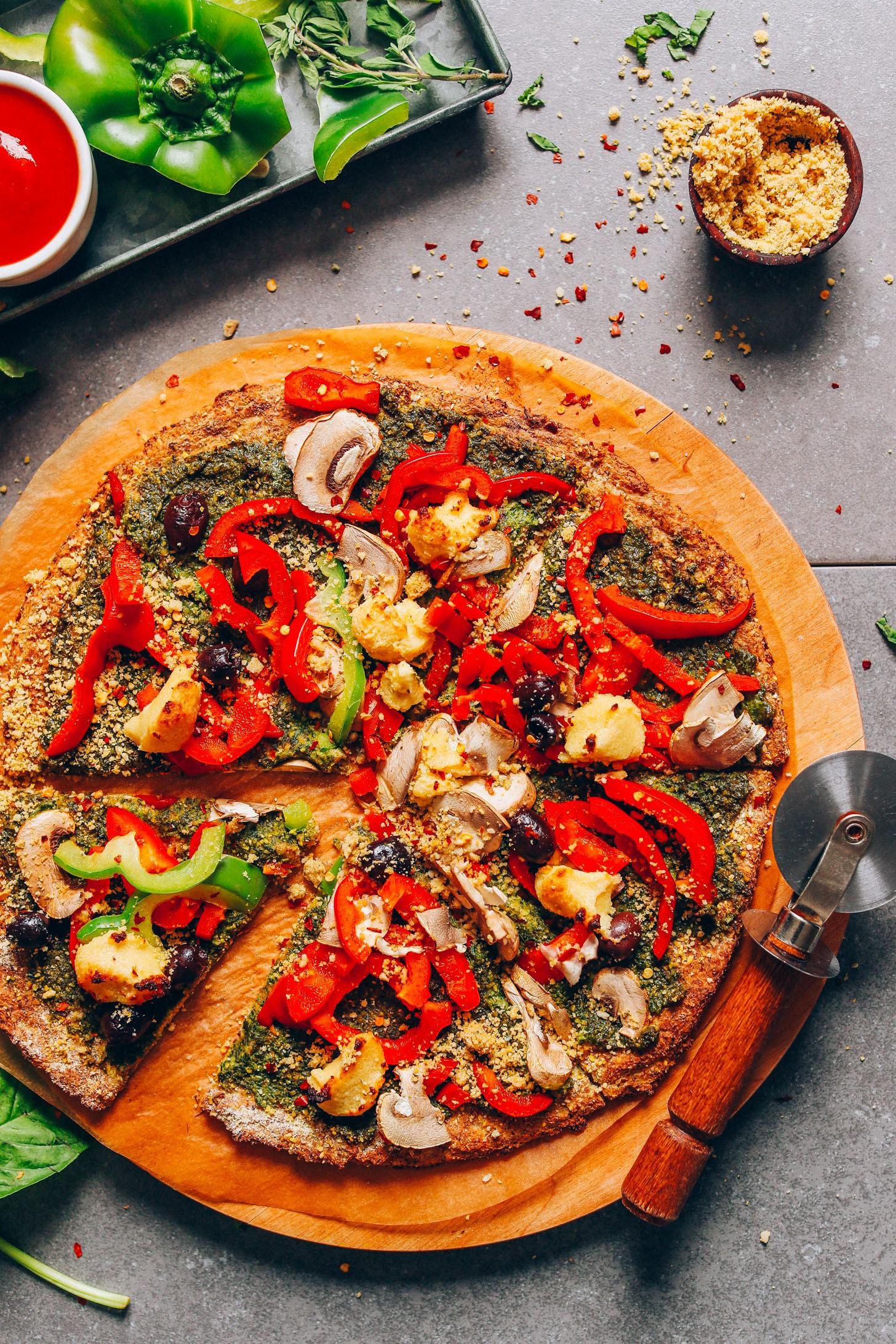 حشوات للبيتزا - طريقة عمل بيتزا الخضار