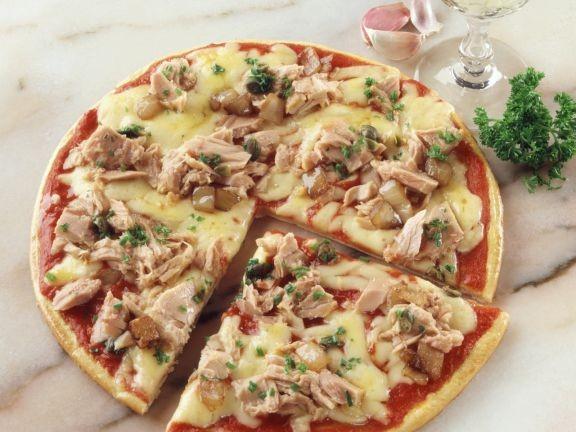 حشوات للبيتزا - طريقة عمل بيتزا التونة