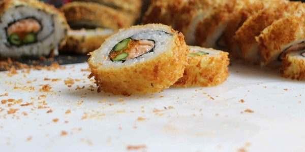 أنواع السوشي - طريقة عمل السوشي المقلي
