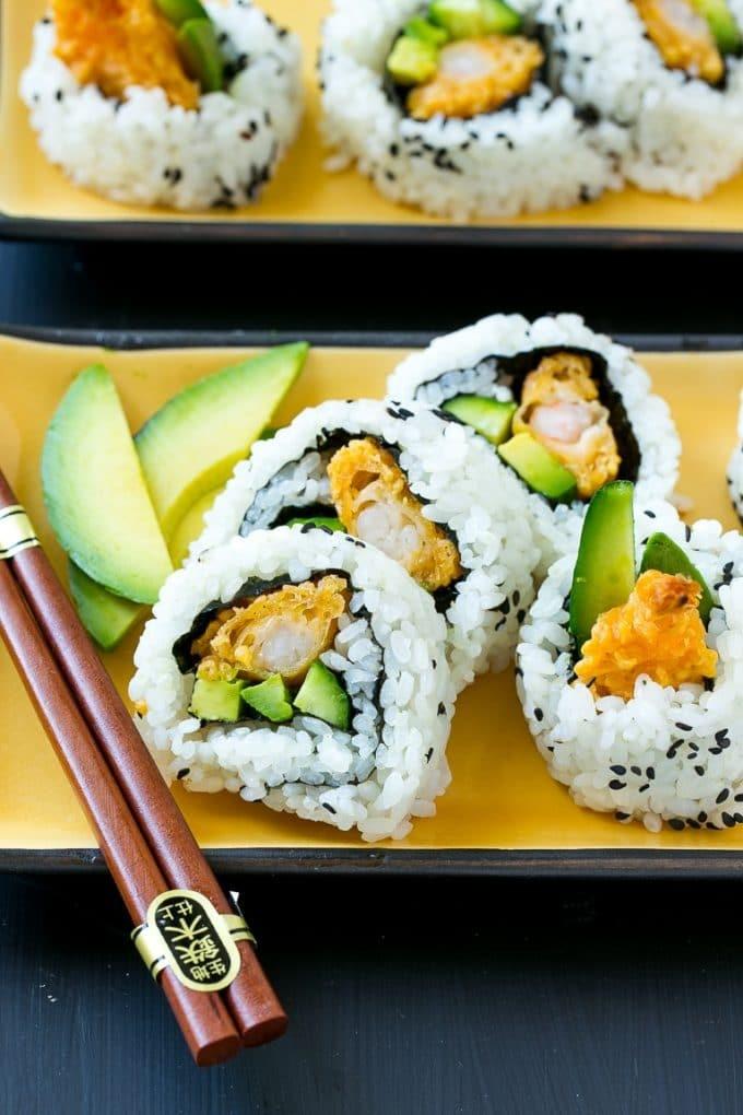 أنواع السوشي - طريقة عمل سوشي التامبورا