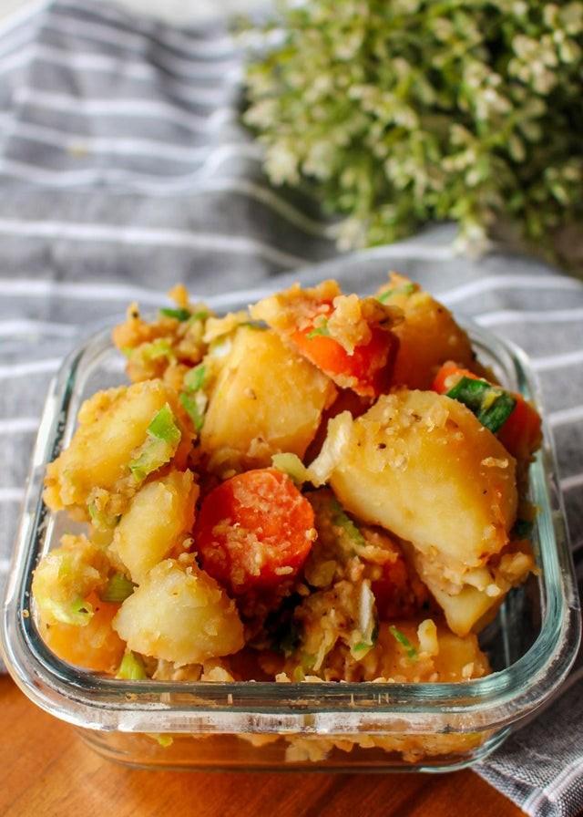 أكلات كورية سهلة التحضير - طريقة عمل طبق البطاطس الكوري