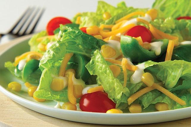 وصفات بالذرة الحلوة - طريقة عمل سلطة الخس والذرة