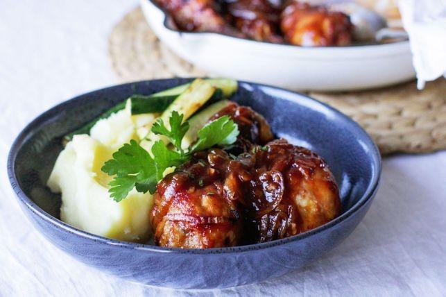 طبخات أمريكية - طريقة عمل الدجاج بالبصل على الطريقة الأمريكية