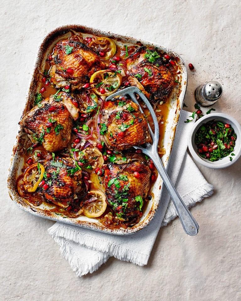 أكلات بدبس الرمان - طريقة عمل الدجاج بدبس الرمان