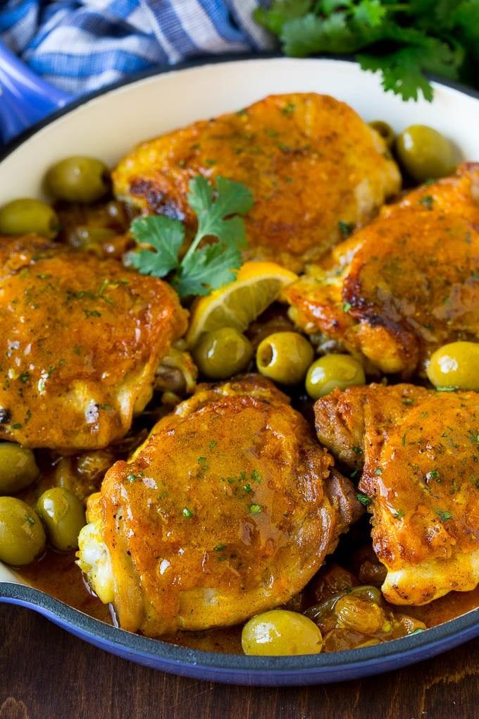 أطباق رئيسية للتحضير في نصف ساعة - طريقة عمل أوراك الدجاج بالتوابل المغربية