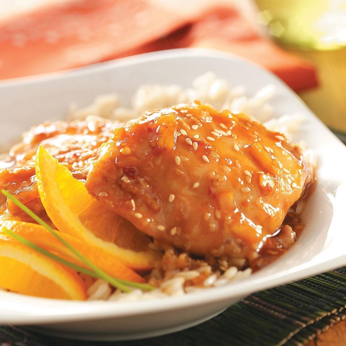 أطباق رئيسية للتحضير في نصف ساعة - طريقة عمل دجاج بصوص البرتقال