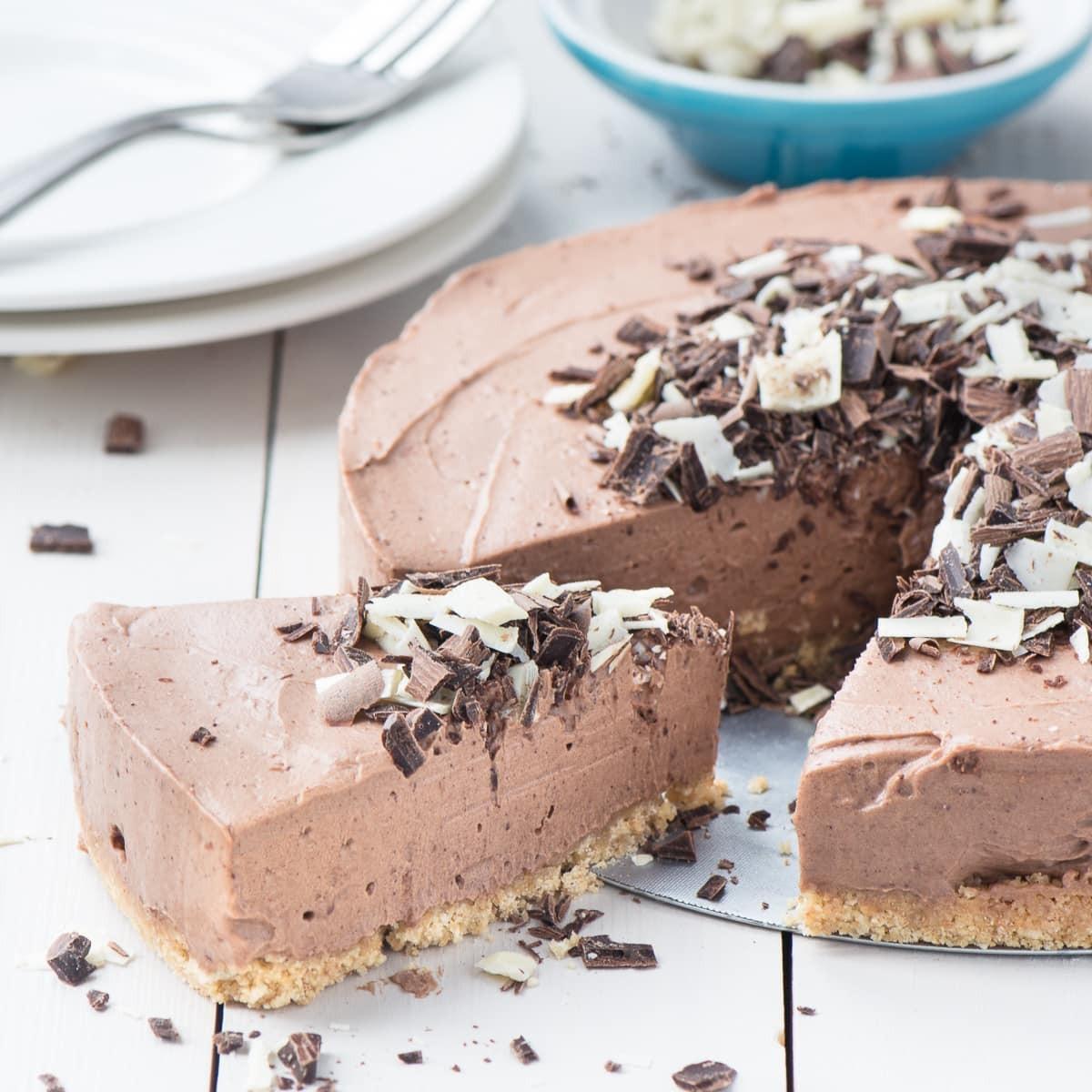 حلويات قليلة السعرات الحرارية - طريقة عمل تشيز كيك الشوكولاتة