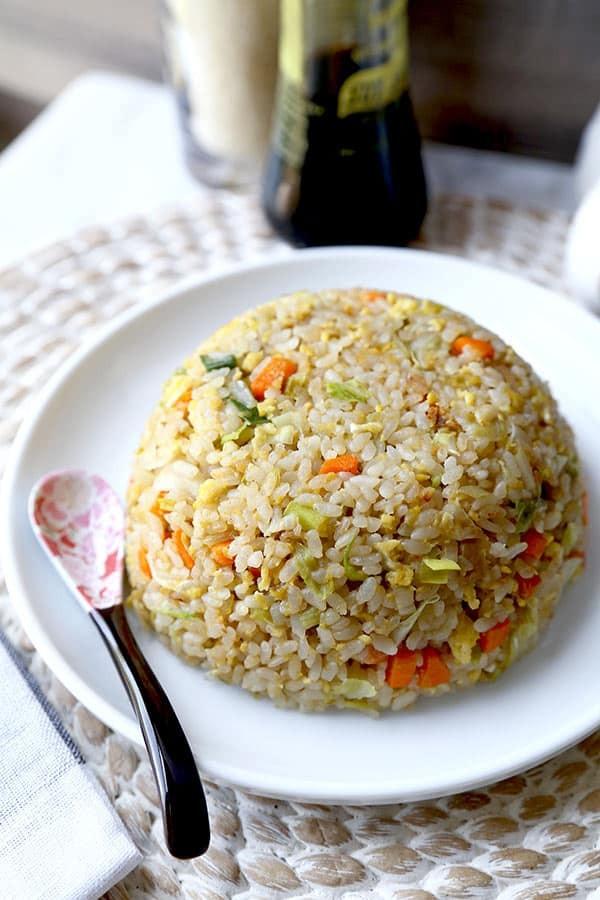 وصفات يابانية - طريقة عمل الأرز المقلي الياباني