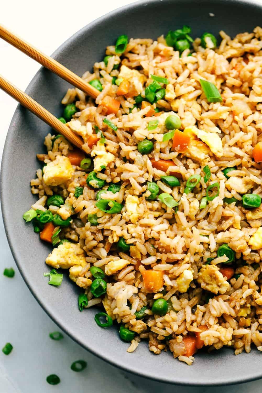 وصفات للأرز - طريقة عمل الأرز الصيني بالخضار