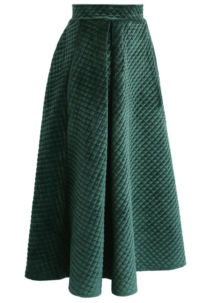 موديلات جيبات بقصات - جيبة من قماش ثقيل