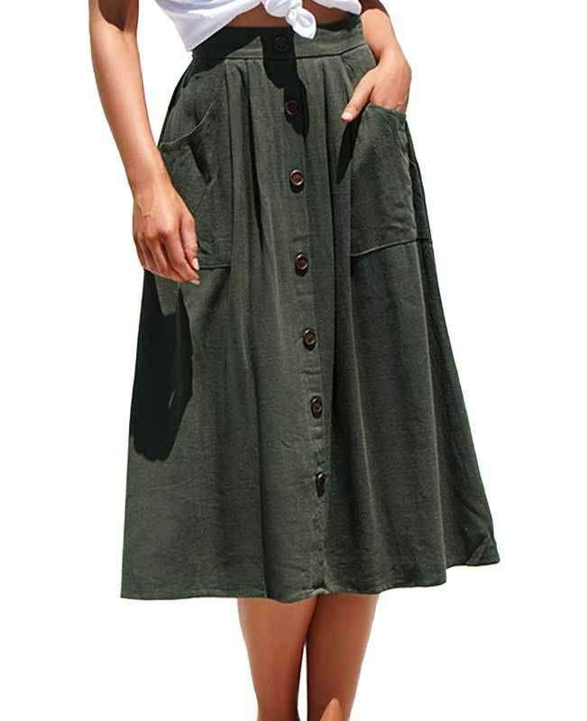 موديلات جيبات بقصات - كتان كاجوال